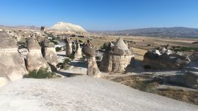 View over Goreme town in Cappadocia stock footage