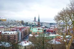 View over Gothenburg in winter, HDR photo Royalty Free Stock Image