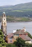 View over Government House, Portmeirion Royalty Free Stock Images