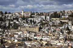 A view over Granada from the Alhambra Palace in Spain Stock Photos