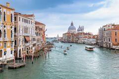 Free View Over Grand Canal In Venice Stock Photos - 170990433