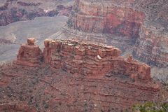 View over the grand canyon from the south rim part Royalty Free Stock Photo