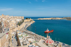 View over the Grand Harbour from Valletta, Malta Royalty Free Stock Photos