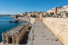 View over the Grand Harbour from Valletta, Malta Royalty Free Stock Image