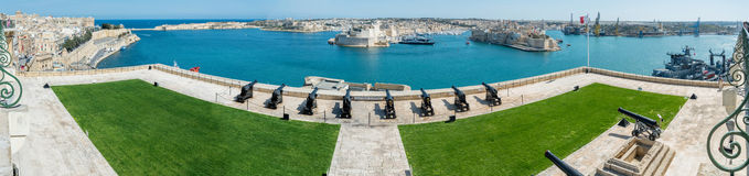 View over the Grand Harbour from Valletta, Malta Stock Image