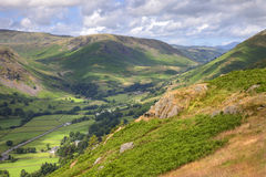 View over Grasmere, Cumbria. View from Alcock Tarn near Grasmere, Cumbria, England Royalty Free Stock Images