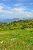 View over greek island Samos in spring Stock Images