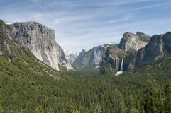 View over the green rocky yosemite park. View over the green yosemite park at wonderful summer day Stock Images
