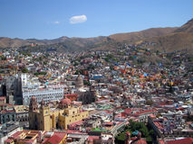 View over Guanajuato. This a view of the city center of Guanajuato as seen from the Pipila statue Royalty Free Stock Photos
