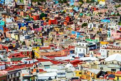 View over Guanajuato City, Mexico. royalty free stock images