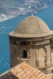 View over Gulf of Salerno from Villa Rufolo, Ravello, Campania. Italy royalty free stock photo