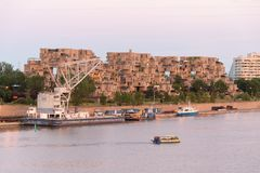 View over Habitat 67 Apartments royalty free stock image