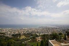 View over Haifa. From Baha'i gardens Royalty Free Stock Photo