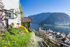 View over Hallstatt, Salzkammergut, Austria Royalty Free Stock Image
