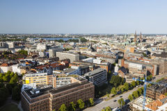 View over Hamburg, Germany. To the Inner and Outer Alster Stock Images