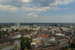 View over Hamburg Royalty Free Stock Image