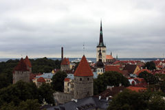 View over Hansa town of Tallinn, Estonia. Royalty Free Stock Photos