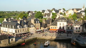 View over harbour, Auray, Morbihan, Brittany stock video