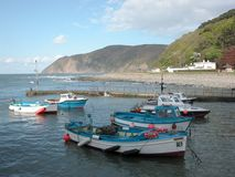 View over harbour at Lynmouth Royalty Free Stock Photography