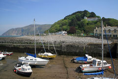 View over harbour at Lynmouth Stock Image