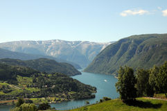 View over Hardangerfjord, Norway Royalty Free Stock Image