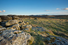 Hayne Down Dartmoor. View over Haytor and Hound tor from Hayne Down, Dartmoor National Park Devon Uk Stock Photo