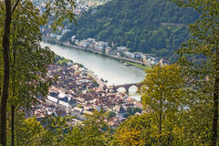 View over Heidelberg royalty free stock image