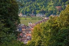 View over Heidelberg royalty free stock photos