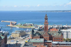 View Over Helsingborg Royalty Free Stock Image