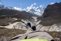 View over the Himalayas Stock Photo