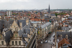 A view over historic centre of Ghent. GHENT / BELGIUM - MAY 2014: A view over historic centre of Ghent, Belgium Stock Photography