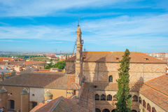 View over the historic city of Salamanca royalty free stock images