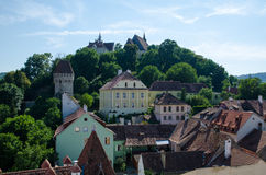 View over the historic city. Sighisoara Stock Images