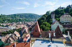 View over the historic city. Sighisoara Royalty Free Stock Images