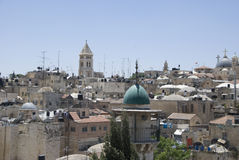View over historic part of jerusalem, israel Stock Photography
