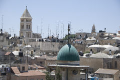 View over historic part of jerusalem, israel Stock Images