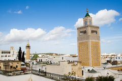 View Over the Historic Town of Tunis Royalty Free Stock Image