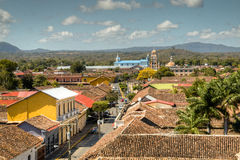 View over the historical centre of Granada, Nicaragua Royalty Free Stock Image