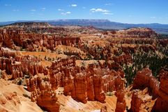 View over the hoodoos of Bryce Canyon at Sunset Point. Stock Photo