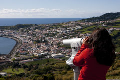 View over horta city Royalty Free Stock Image
