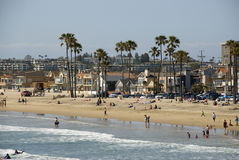 View over houses and beach of Newport Beach, Orange County - California Royalty Free Stock Photography