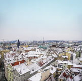 The view over the houses and the roofs from the top of Staromest Royalty Free Stock Photos