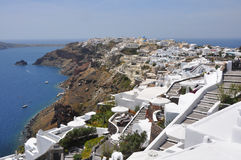 View over ia on greek island santorini Royalty Free Stock Image