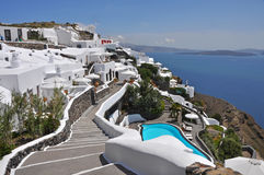 View over ia on greek island santorini Stock Image