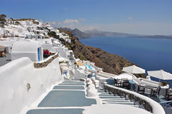 View over ia on greek island santorini Royalty Free Stock Photos