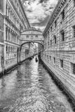 View over the iconic Bridge of Sighs, Venice, Italy Royalty Free Stock Images