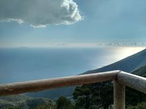View of the Ionian sea from Llogara, Albania royalty free stock photography
