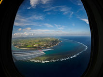 View over Ishigaki Island fromPlane. View over Ishigaki Island, Japan from Plane Stock Photos
