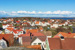 View over island village in Sweden. Stock Photo