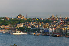 View over Istanbul. A panoramic view over the city of Istanbul Royalty Free Stock Image